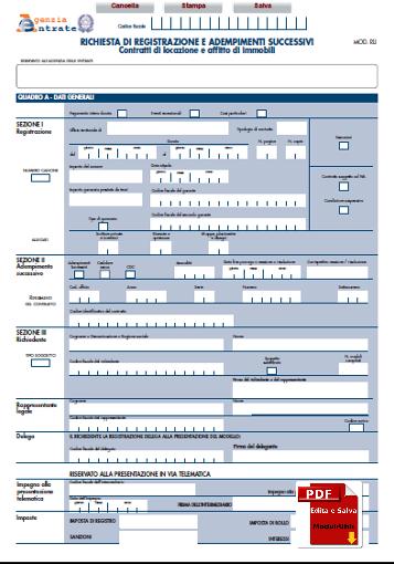 Mod rli editabile confortevole soggiorno nella casa for Registrazione contratto preliminare di compravendita agenzia delle entrate