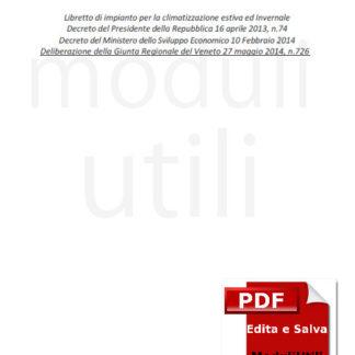Libretto Impianto regione Veneto