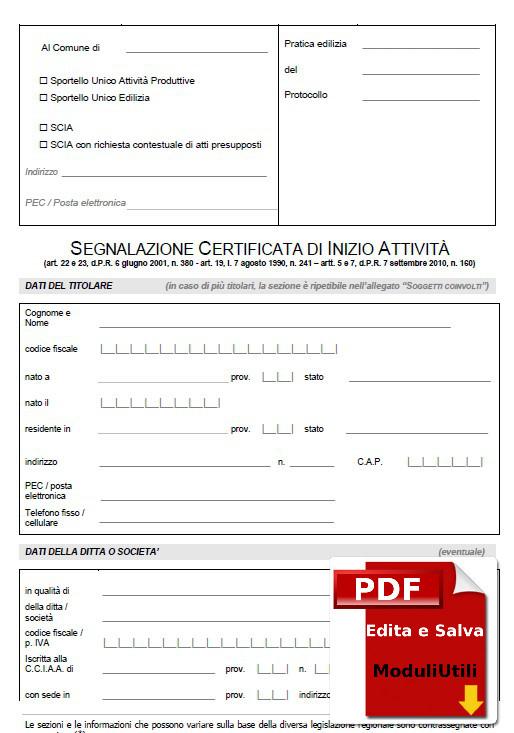 PDC UNICO E SCIA UNICO EDITABILE