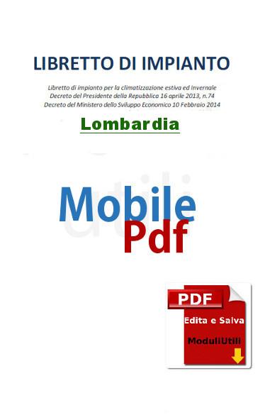 Libretto Impianto editabile lombardia