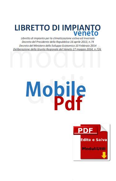 Libretto Impianto editabile Regione Veneto