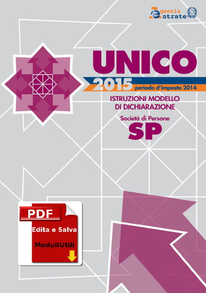 Unico Società di persone 2015 editabile