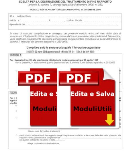 Modulo TFR 2 editabile