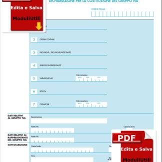 l modello AGI/1, dichiarazione per la costituzione del Gruppo IVA