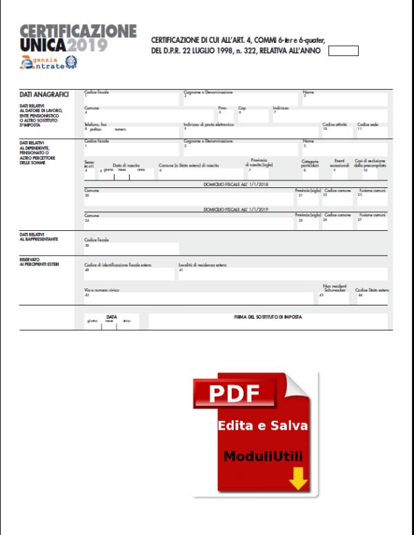 Certificazione-unica-editabile 2019 Courier