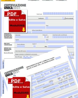 Certificazione Unica editabile 2021